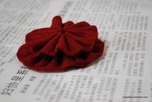 a felt rosette